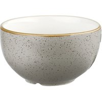 Churchill Stonecast Peppercorn Grey Sugar Bowl 8oz / 227ml (Set of 12)