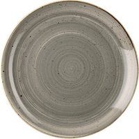 Churchill Stonecast Peppercorn Grey Coupe Plate 10.25 Inch / 26cm (Set of 12)
