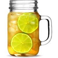 Mason Drinking Jar Glasses 16.5oz / 490ml (Pack of 4)