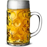 German Beer Stein Glass CE Lined at 2 Pints / 1.4ltr (Case of 6)