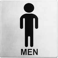 Stainless Steel Toilet Sign Men - Men Gifts
