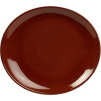 Rustic Oval Plate Red 25 x 22cm (Set of 12)