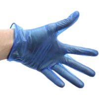 Disposable Blue Vinyl Catering Gloves Large - Cooking Gifts