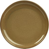 Rustic Coupe Plate Brown 19cm (Case of 12)