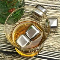 Click to view product details and reviews for Stainless Steel Ice Cubes Pack Of 4.