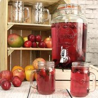 Kilner Garden Party Drinks Dispenser 5ltr with Drinking Jars