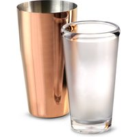 Click to view product details and reviews for Urban Bar Rose Gold Plated Boston Cocktail Shaker Tin Polycarbonate Glass Set.