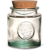 Authentic Recycled Glass Storage Jar with Cork Lid 250ml (Case of 6) - Storage Gifts