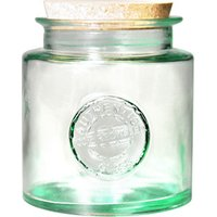 Authentic Recycled Glass Storage Jar with Cork Lid 52oz / 1.5ltr (Case of 6)