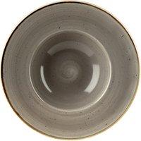 Churchill Stonecast Peppercorn Grey Wide Rim Bowl 9.45 Inch / 24cm (Case of 12)
