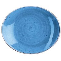 """Churchill Stonecast Cornflower Blue Oval Coupe Plate 7.75"""" / 19.2cm (Case of 12)"""