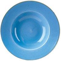 "Churchill Stonecast Cornflower Blue Wide Rim Bowl 11"" / 28cm (Case of 12)"
