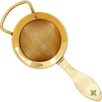 Click to view product details and reviews for Bonzer Heritage Gold Plated Fine Cocktail Strainer.