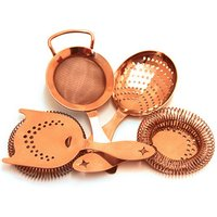 Click to view product details and reviews for Bonzer Heritage Copper Plated Cocktail Strainer Set.