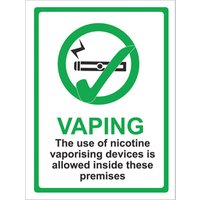 Click to view product details and reviews for Vaping Allowed Sign.