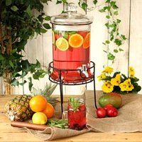 Round Drink Dispenser with Stand 168oz / 4.8ltr (Case of 2) - Drink Gifts