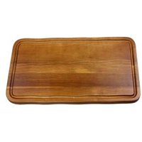 Acacia Wood Serving Board with Groove 40 x 22cm (Single) - Wood Gifts