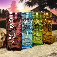 Coloured Glass Tiki Mugs 14oz / 400ml (Case of 24)