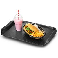 Fast Food Tray with Handles Black 17 x 12inch