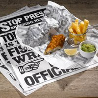 Custom Printed White Greaseproof Paper 335 x 500mm (2 Colour Print - 2000 Sheets) - Custom Gifts