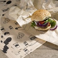 Custom Printed Brown Greaseproof Paper 335 x 250mm (1 Colour - 4000 Sheets)