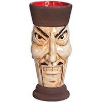 Ceramic Tiki Mug Fu Manchu 12.7oz / 360ml (Single)