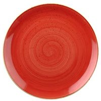 Churchill Stonecast Berry Red Coupe Plate 8.25 inch / 21.7cm (Case of 12)