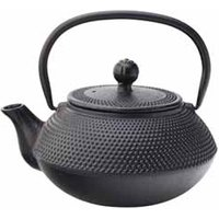 Mandarin Cast Iron Teapot with Infuser Black 24oz / 680ml (Case of 6) - Teapot Gifts