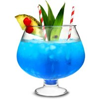 Plastic Footed Cocktail Fish Bowl 80oz / 2.5ltr (Case of 12) - Fish Gifts