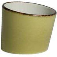 """Steelite Terramesa Tilt Pot Olive 3"""" / 7.9cm (Case of 12)"""
