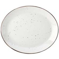 "Utopia Rustik Dots Oval Plates 12"" / 31cm (Case of 10)"