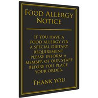 Food Allergy Notice 26 x 17cm (Single)
