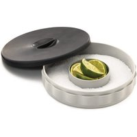 Click to view product details and reviews for Glass Rimmer With Silver Tray Single.