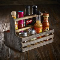 Genware Rustic Wooden Table Caddy (Single)