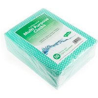 Antibacterial Cloths Green (Pack of 50)