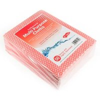 Antibacterial Cloths Red (10 packs of 50) - Cloths Gifts