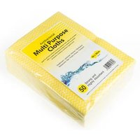 Antibacterial Cloths Yellow (10 packs of 50) - Cloths Gifts