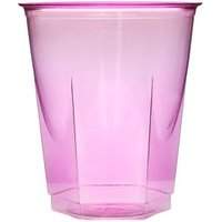 Crystal Disposable Party Cups Fuchsia 8.75oz / 250ml (Set of 50) - Fuchsia Gifts
