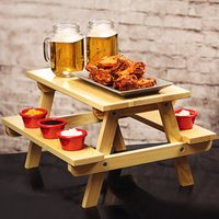 Miniature Pine Picnic Bench Serving Platter (Case of 4)