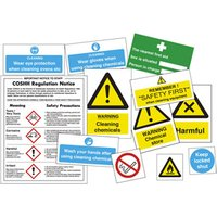 COSHH Chemical Safety Sticker Pack