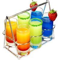 Shot Basket 7 Piece Tasting Set (Case of 8) - Shot Glasses Gifts