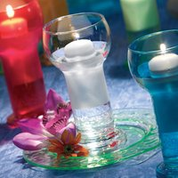 Lucilla Candle Holder with Floating Candle (Case of 12) - Candle Gifts