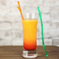 Plastic Bamboo Shaped Cocktail Stirrers (Pack of 24)