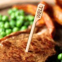 Bamboo Steak Picks 9cm Well Done (Pack of 576)