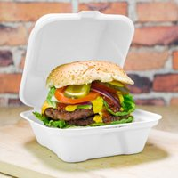 Clamshell Bagasse Takeaway Burger Box 6inch (Case of 500)