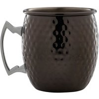 Gun Metal Black Hammered Barrel Mug 19.25oz / 550ml (Case of 12) - Gun Gifts