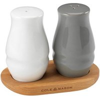 Cole andamp; Mason Ceramic andamp; Wood Salt and Pepper Shaker Set (Set of 6)