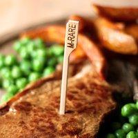 Bamboo Steak Picks 3.5inch Medium Rare (Pack of 576)