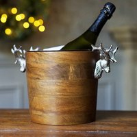 Huntsman Stag Head Wooden Wine Cooler (Single)