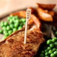Bamboo Steak Picks 3.5inch Rare (Pack of 24)